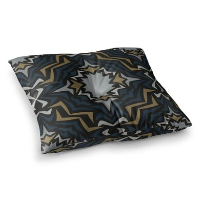 Miranda Mol Winter Fractals Square Floor Pillow Size: 26 x 26