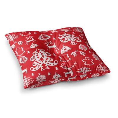 Miranda Mol Warm Winter Square Floor Pillow Size: 26 x 26