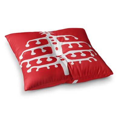 Miranda Mol Deco Tree Holiday Square Floor Pillow Size: 26 x 26