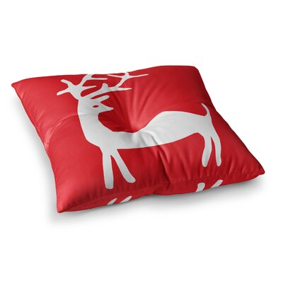 Miranda Mol Reindeer Holiday Square Floor Pillow Size: 26 x 26