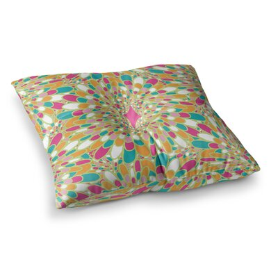 Miranda Mol Flourishing Square Floor Pillow Size: 23 x 23, Color: Green
