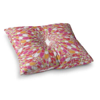 Miranda Mol Flourishing Square Floor Pillow Size: 23 x 23, Color: Pink/Orange