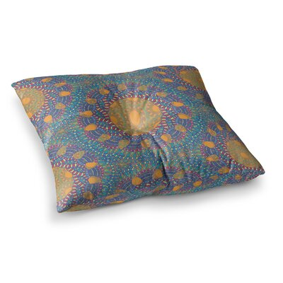 Miranda Mol Prismatic Abstract Square Floor Pillow Size: 23 x 23, Color: Orange/Blue