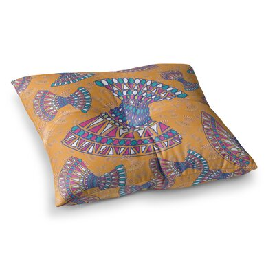 Miranda Mol Tribal Fun Abstract Tangerine Square Floor Pillow Size: 23 x 23, Color: Orange