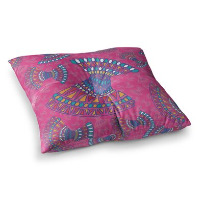 Miranda Mol Tribal Fun Abstract Tangerine Square Floor Pillow Size: 26 x 26, Color: Pink