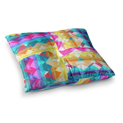 Miranda Mol Triangle Checker Square Floor Pillow Size: 26