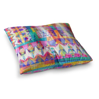 Miranda Mol Triangle Collage Geometric Square Floor Pillow Size: 26 x 26