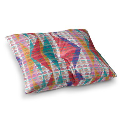 Miranda Mol Triangle Illusion Geometric Square Floor Pillow Size: 26 x 26