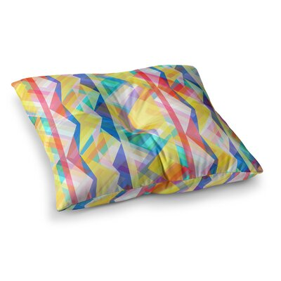 Miranda Mol Triangle Rhythm Pastel Geometric Square Floor Pillow Size: 26 x 26