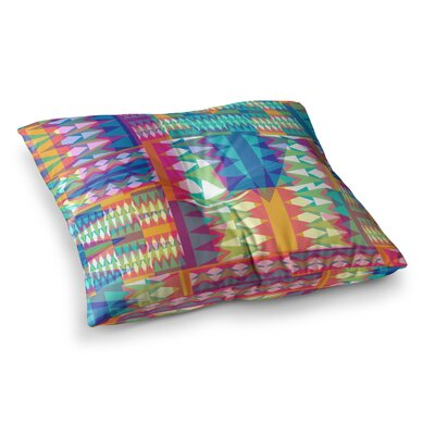Miranda Mol Triangle Quilt Geometric Square Floor Pillow Size: 23 x 23