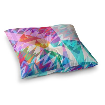 Miranda Mol Triangle Feast Abstract Geometric Square Floor Pillow Size: 26 x 26