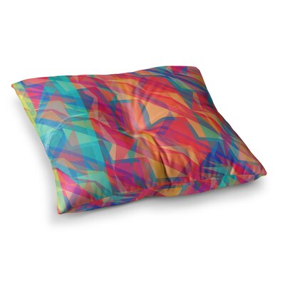 Miranda Mol Triangle Opticals Square Floor Pillow Size: 26 x 26