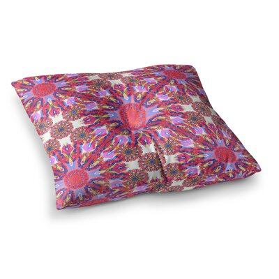 Miranda Mol Kaleidoscopic Floral Square Floor Pillow Size: 23 x 23