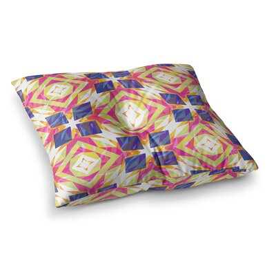 Miranda Mol Dancing Tiles Square Floor Pillow Size: 26 x 26