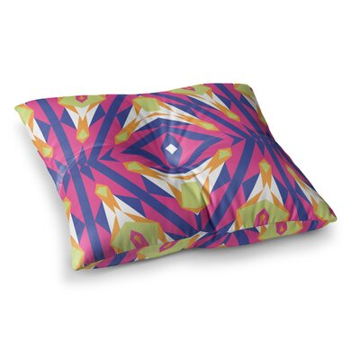 Miranda Mol Tulip Tribal Square Floor Pillow Size: 23