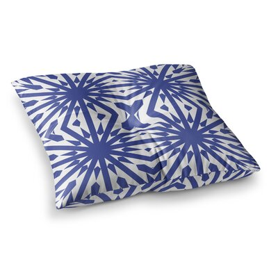 Miranda Mol Delftsch Tulips Floral Square Floor Pillow Size: 26 x 26