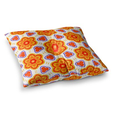 Miranda Mol Kaleidoscopic Flowers Floral Square Floor Pillow Size: 23 x 23