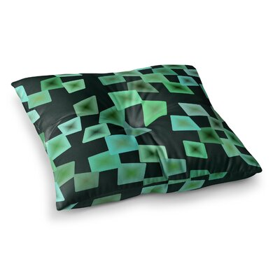 Mimulux Patricia No Seaglass on the Shore Digital Square Floor Pillow Size: 23 x 23