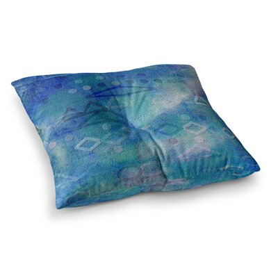Mimulux Patricia No Hieroglyphic Digital Abstract Square Floor Pillow Size: 23 x 23