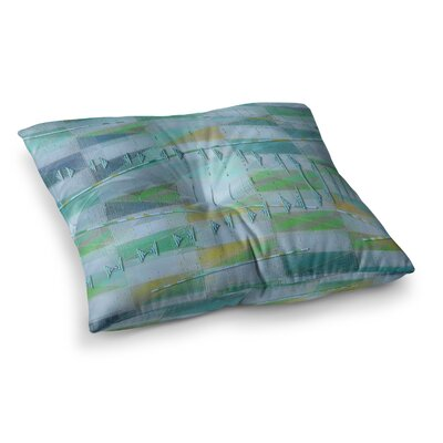 Mimulux Patricia No a Light Summer Rain Digital Square Floor Pillow Size: 26 x 26