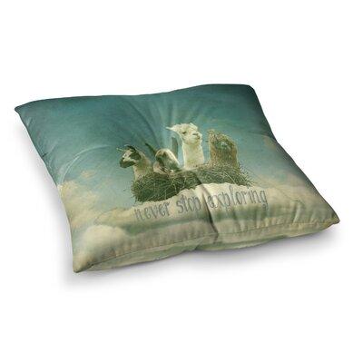 Monika Strigel Never Stop Exploring Square Throw Pillow Size: 26 x 26
