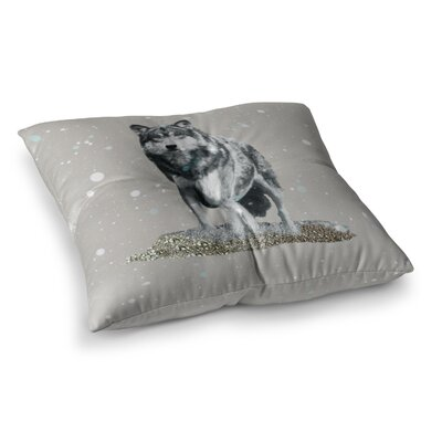 Monika Strigel Wolf Square Throw Pillow Size: 23 x 23