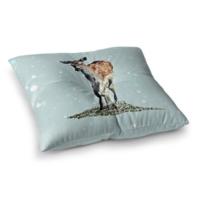 Monika Strigel Fawn Square Throw Pillow Size: 23 x 23