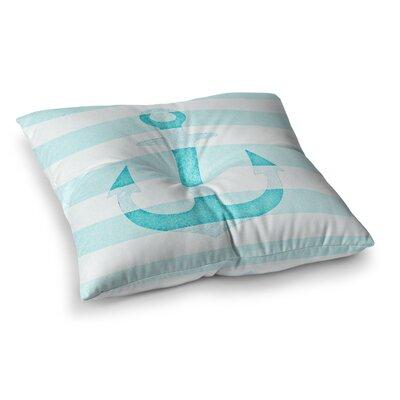 Monika Strigel Stone Vintage Anchor Square Throw Pillow Size: 26 x 26, Color: Aqua
