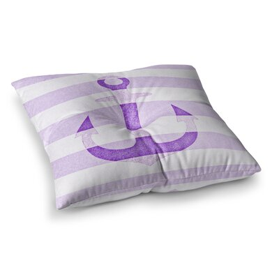 Monika Strigel Stone Vintage Anchor Square Throw Pillow Size: 26 x 26, Color: Purple
