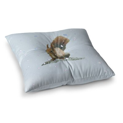 Monika Strigel Squirrel Square Throw Pillow Size: 26 x 26