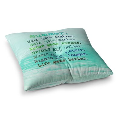 Monika Strigel Summer XXL Square Throw Pillow Size: 26 x 26