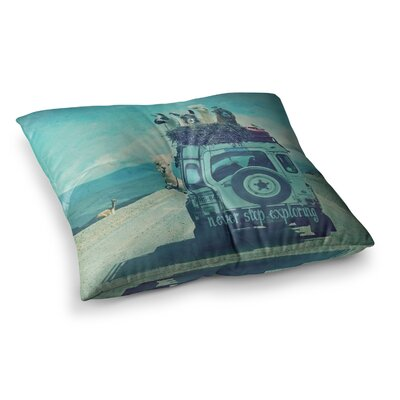 Monika Strigel Never Stop Exploring III Square Throw Pillow Size: 23 x 23