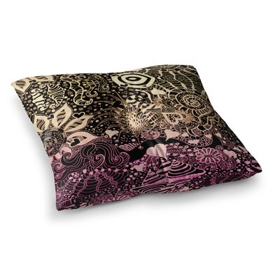 Monika Strigel Neptunes Garden Square Throw Pillow Size: 23 x 23, Color: Pink