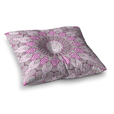 Monika Strigel Dots and Stripes Square Throw Pillow Size: 23 x 23, Color: Pink