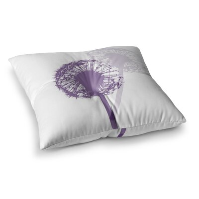 Monika Strigel Dandelion Flower Square Throw Pillow Size: 23 x 23