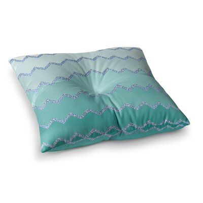 Monika Strigel Avalon Square Throw Pillow Size: 23 x 23, Color: Aqua