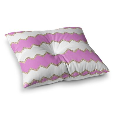 Monika Strigel Avalon Chevron Square Throw Pillow Size: 23 x 23, Color: Pink