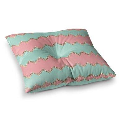 Monika Strigel Avalon Chevron Square Throw Pillow Size: 23 x 23, Color: Coral