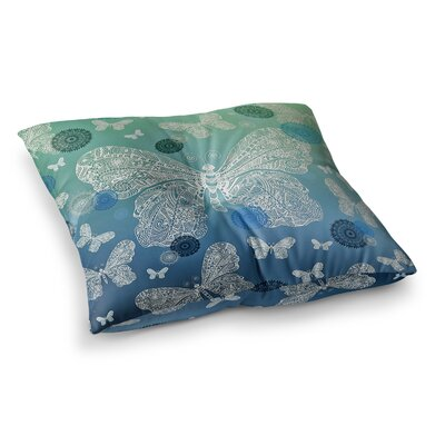 Monika Strigel Butterfly Dreams Square Throw Pillow Size: 26 x 26, Color: Aqua Teal