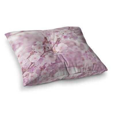 Monika Strigel Endless Cherry Floral Square Throw Pillow Size: 23 x 23