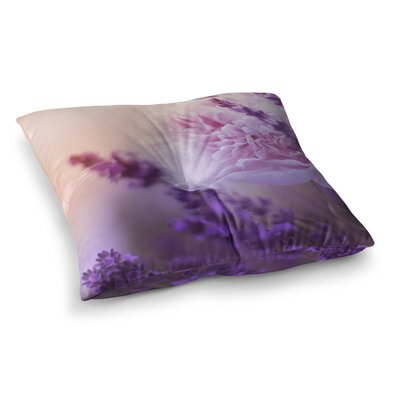 Monika Strigel Peony and Square Throw Pillow Size: 23 x 23