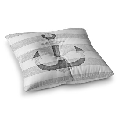 Monika Strigel Stone Vintage Anchor Square Throw Pillow Size: 23 x 23, Color: Gray