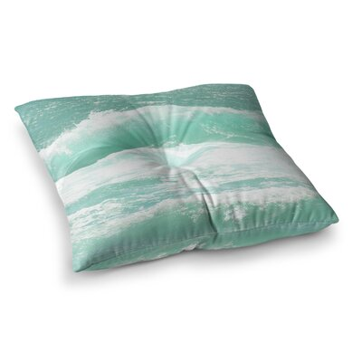 Monika Strigel Maui Waves Square Throw Pillow Size: 23 x 23
