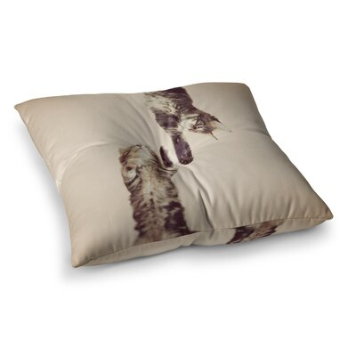 Monika Strigel Upside Down Cats Square Throw Pillow Size: 26 x 26