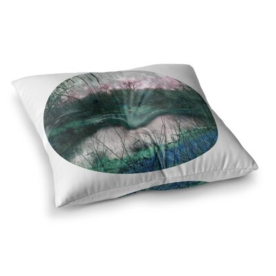 Micah Sager Swamp Lake Circle Square Floor Pillow Size: 23 x 23