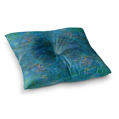 Nikposium Clearwater Square Floor Pillow Size: 26 x 26, Color: Blue/Teal