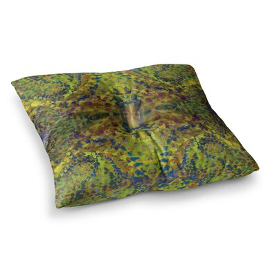 Nikposium Jacket Abstract Square Floor Pillow Size: 23 x 23