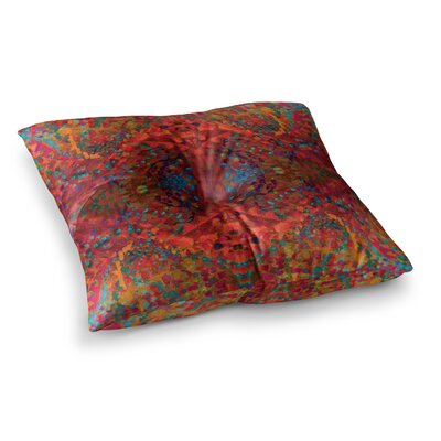 Nikposium Boysenberry Square Floor Pillow Size: 26 x 26, Color: Orange