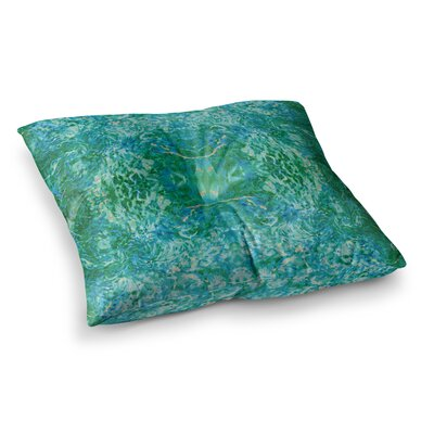Nikposium Eden Square Floor Pillow Size: 26 x 26, Color: Green