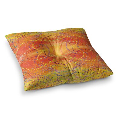 Nikposium Summer Square Floor Pillow Size: 23 x 23, Color: Yellow
